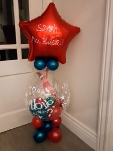 Personalised Elf on the shelf in a balloon