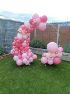 We deliver to the venue and collect hoop after your event ( the hoop is on hire)